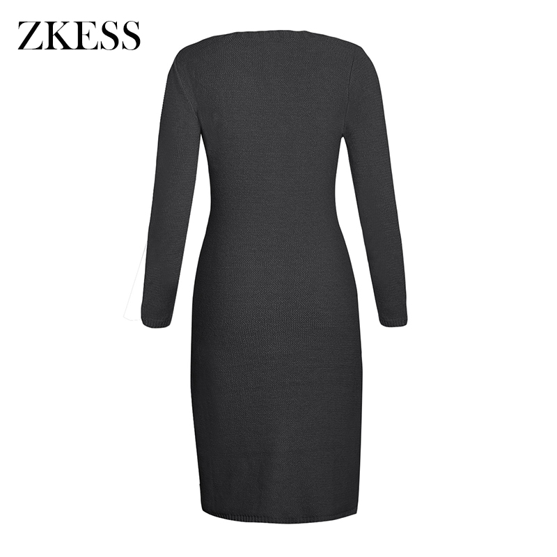 Black-Women-s-Hand-Knitted-Sweater-Dress-LC27772-2-3
