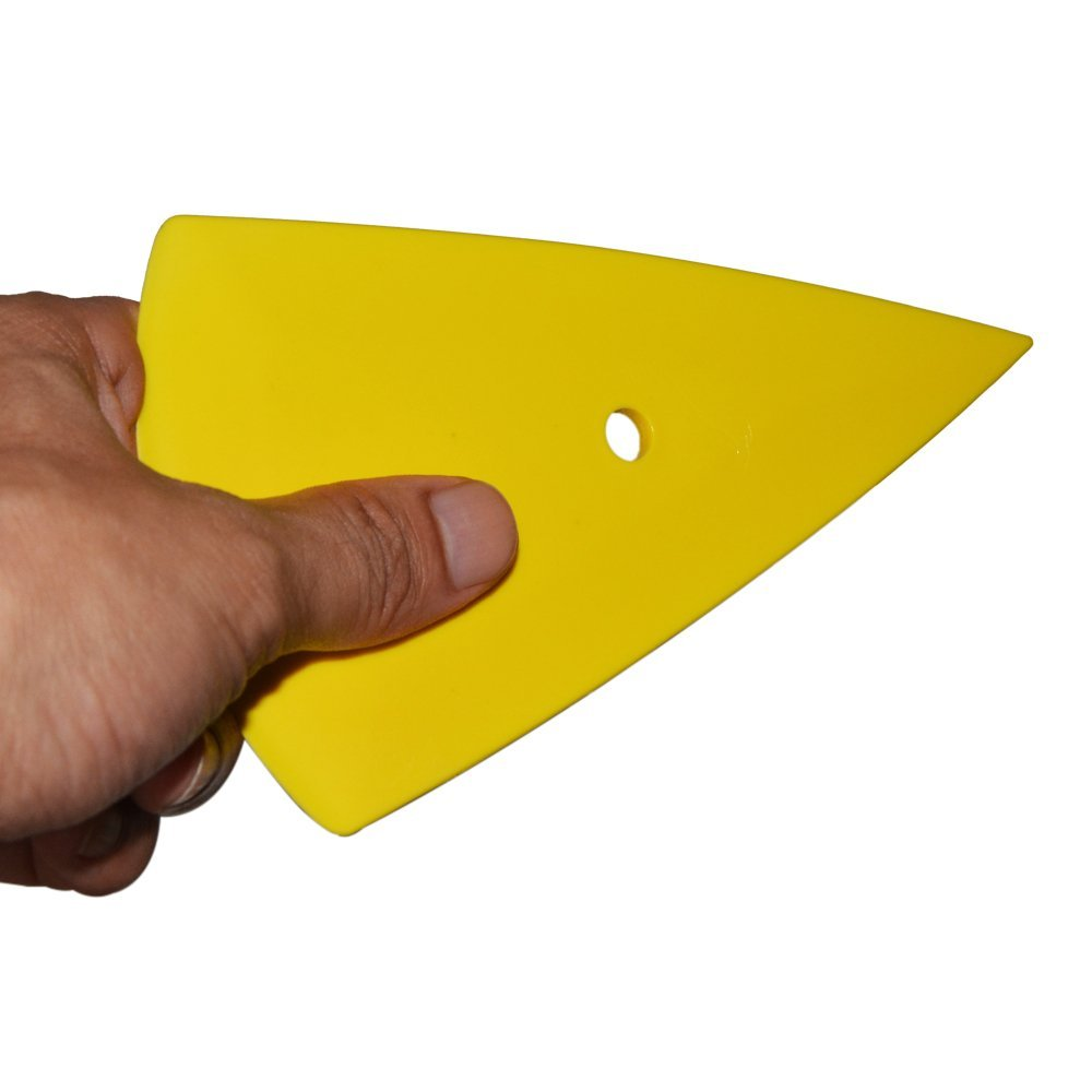 Yellow Contour Squeegee for Car Window Tinting Sticker Wrapping Tools 2-10PCS