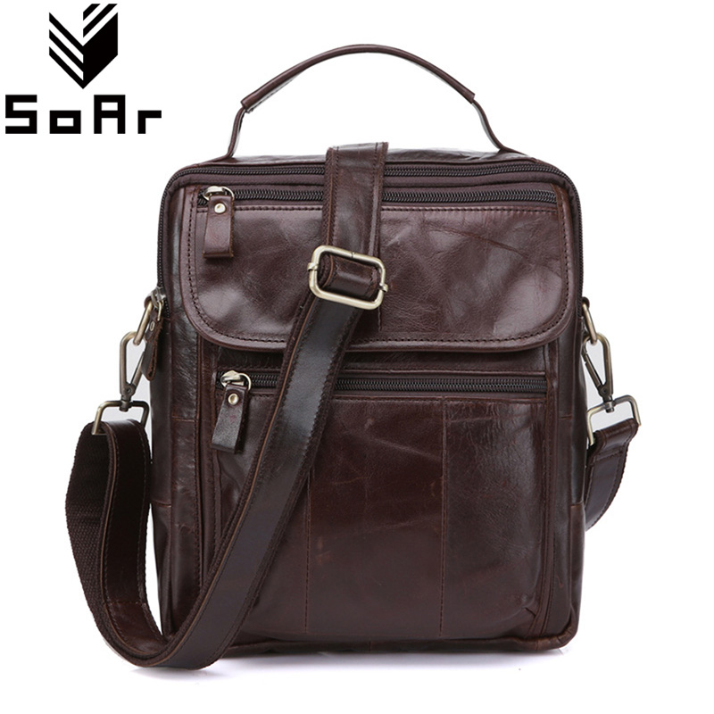 SoAr Men Messenger Bags Briefcases Famous Brand Handbags Crossbody Men Genuine Leather Shoulder Bags Vintage Handbags Male Hot<br>