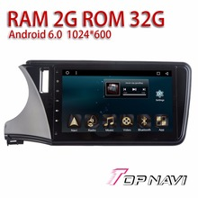 Car Navigation for Honda Greiz 2015 10.1'' WANUSUAL Android 6.0 32GB Inand Flash Memory 2G RAM Auto Buit-in GPS Players with Map(China)