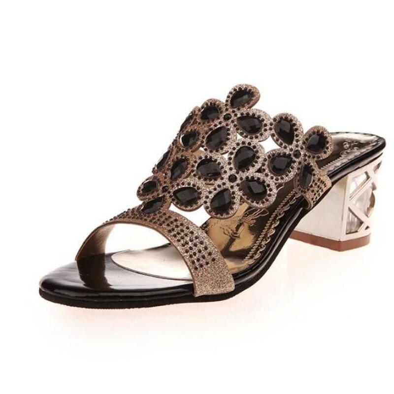 Women sandals 2017 new arrival high quality PU comfortable summer sandals women slip-on high heel fashion sandalias mujer<br><br>Aliexpress