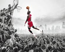 2016 Sale New Paintings Cuadros Decor Sports Basketball Ball Michael Jordan Poster 5 Sizes Home Decoration Canvas Print Picture