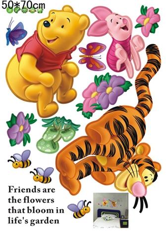 HTB1xKMNgz3z9KJjy0Fmq6xiwXXap - Baby Bear Cartoon DIY Wall Stickers For Kids Children Room Decaor 3d Window Bear Winnie Pooh Nursery Wall Decals