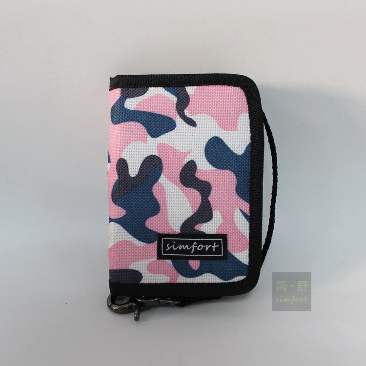 Simfort loves designer multicolour zipper wallet chain wallet travel wallet light pink camo color<br><br>Aliexpress