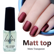 LULAA New 6ML Magic Super Matte Nail Polish Matt Top Coat Nail Lacquer Nails Frosted Surface Oil Manicure Art Tools Varnishes(China)