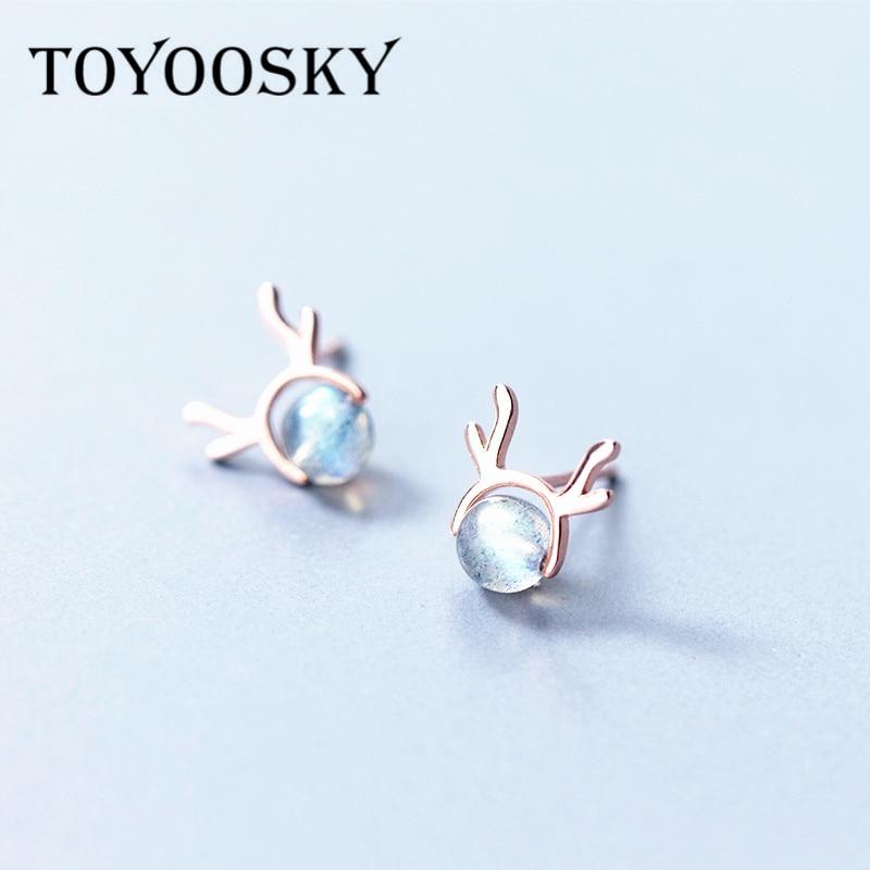 Mickey Mouse Stud Earrings for Girls Women Hypoallergenic S925 Sterling Silver Opal Earrings Gifts for Girls