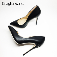 Craylorvans Top Quality High Heels Shoes 2017 Women Pumps Sexy Pointed Toe Women Shoes Chaussure Escarpins(China)