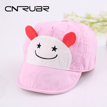 CN-RUBR New Cute Baby Hat Cartoon Boy Girl Summer Cap Kids Visor Hats Clothing Accessories Baby Sun Hat Newborn Baseball Cap