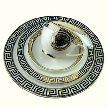 2017 new arrival plate dish set ceramic Tableware set Coffee cup set Service plate sets Kitchen Appliances Kitchen Supplies