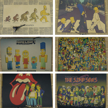 The Simpsons C Style/classic Cartoon Comic /kraft paper/bar poster/Retro Poster/decorative painting