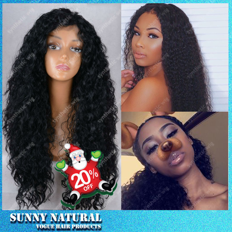 Teyana Taylor Afro Kinky Curly Lace Front Wig Synthetic Hair Natural Black Lace Wig Synthetic Lace Front Kinky Curly Wigs<br><br>Aliexpress
