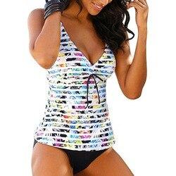 Женский винтажный купальник с принтом и чашками
