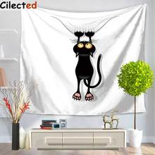 Cilected Cat And Mouse Print Wall Tapestry Fabric Indian Bedroom Decor Hippie Tapestries Cartoon Wall Hanging Table Cloth