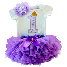 1 Year baby dress princess Newborn Girl Clothes Formal infant Tutu dress for 1st birthday Gift Baby Girl dress Baptism Gown(China)