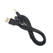 New 2 in 1 USB 4.0x1.7mm Jack Plug 5V Power Charger Charging Data Transfer Cable Supply For PSP 2000 3000 to PC(China)