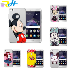 Fashion phone case For coque Huawei P8 Lite P9 Lite Case Mickey Minnie PC hard shell Cover Cases For Huawei P8 Lite 2017 Case