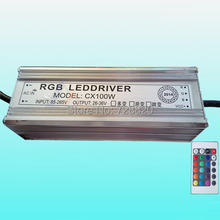 100W IP65 Waterproof Integrated RGB LED Driver Power Supply with Remote Control for RGB LED Bulb