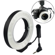 Gosear W48 Microscope Photography Ring Flash Len Video Shooting Fill LED Light Lamp for Canon Nikon Sony FUJI DSLR Cameras