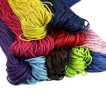 Waxed Cotton Beading Cord Rope for Making Bracelet Necklace Jewelry Decorative Handcraft Accessories 1.5mm(China)