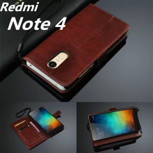 Redmi Note 4 5.5-inch card holder cover case for Xiaomi Redmi Note 4 Pro Prime leather phone case ultra thin wallet flip cover