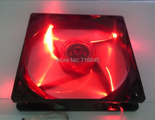 New Red LED Color 12V 4Pin &3Pin 140mm x 25mm Mute Fan For PC Case System Cooling Fan