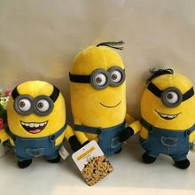 1pc 20cm 25cm Minions Bob Kevin Stuart Plush Animal toy Depicable Me Movie Minions pendant kids gift baby toy Birthday Gift