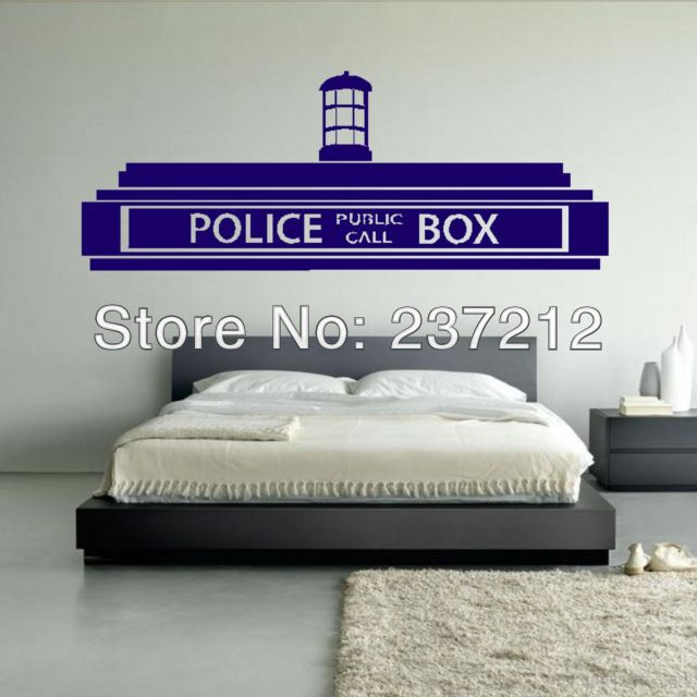 Free Shipping PVC Doctor Who Tardis Police Box Wall Sticker / Decor Design  Kids Transfer Vinyl Part 47