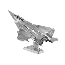 Hot Sale 3D Metal Puzzle Model Military Metallic Puzzle Jigsaw Model DIY F15 Fighter Model