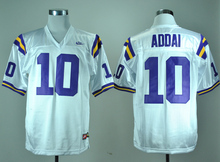 Nike Jerseys LSU Tigers Joseph Addai 10 White College Ice Hockey Jerseys M,L,XL,XXL,3XL(China)