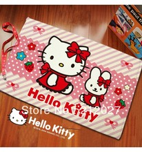 Free shipping Cute Hello Kitty Anti Slip floor mat slip-resistant Door mat /carpet mats /rug mat 60X40CM Option C Pink Flower(China)
