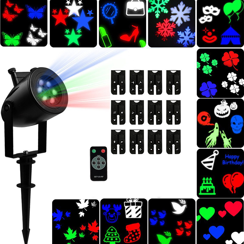 Christmas Wedding Party Snowflake Laser Projector lamp Waterproof Moving LED Stage Lights Sparkling Snowflake Landscape Lights <br>