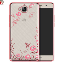 Buy Huawei Honor 4C Pro Case Flower Silicone Bling Diamond Back Cover Phone Cases Huawei Y6 Pro Case TIT L01 U02 TIT-AL00 for $3.04 in AliExpress store