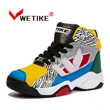WETIKE 2017 Kid's Basketball Shoes New Design Boy And Girl's Sneakers Outdoor Sports Shoes For Kid Flat Shoes Sneaker For Girl(China)