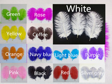 "Sell high quality 10pcs / lot  white ostrich feather 6-8 ""/ 15-20cm, DIY jewelry accessories / Custom Colors"