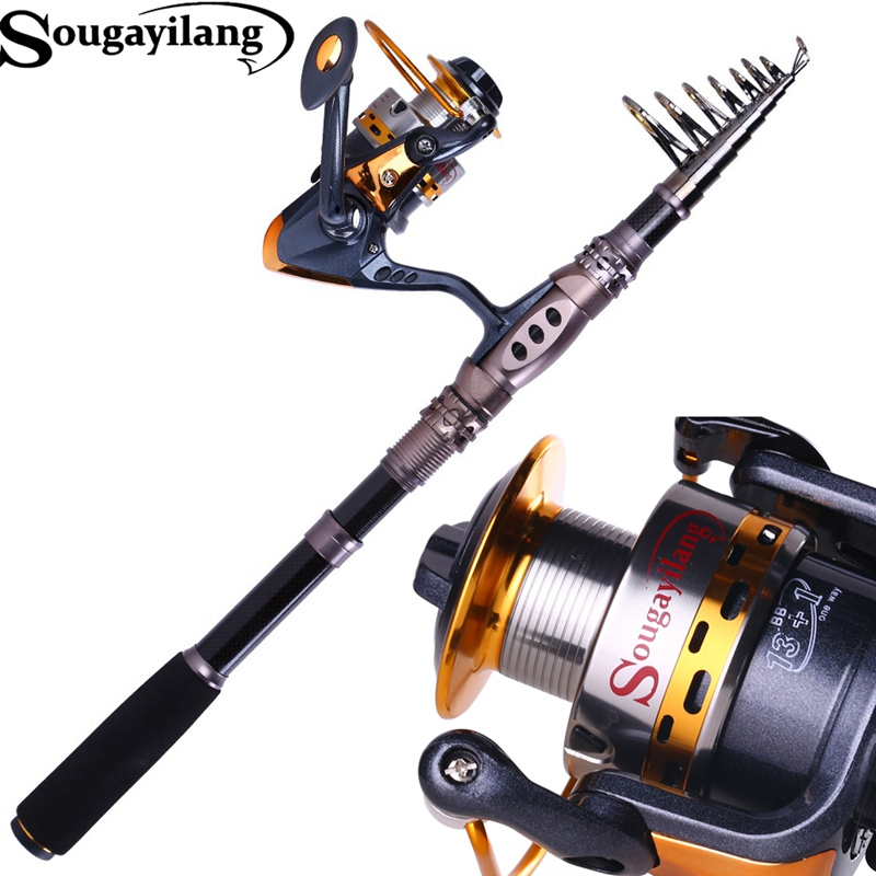 2016 Telescopic Fishing Rod With Reel Fishing Rod with 14BB Spinning Metal Reel Fishing Pole Set<br><br>Aliexpress