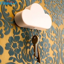 Ouneed Creative Novelty Home Storage Holder White Cloud Shape Magnetic Magnets Key Holder Happy Gifts High Quality ABS Sep 24