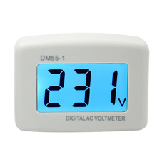 NEW DM55-1 AC 80-300V Voltage Meter Plug Volt Meter LCD Digital display Voltmeter Testers(China)