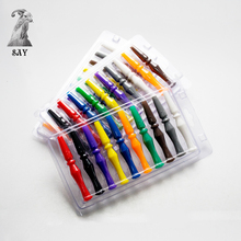 SY 10 Different Colors/Pack 95mm Disposable Colorful Silicone Hookah Mouthtip Filters For Shisha Chicha Smoking Accessories(China)