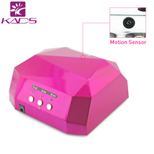 KADS Professional nail uv lamp sense lamp 36W printing flower design Diamond shape LED UV CCFL Light Gel Lamps Nail Dryer(China)