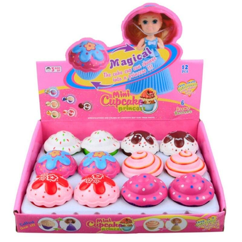 Mini Cartoon Transformed Doll Cupcake Princess Deformable Pastry Play House
