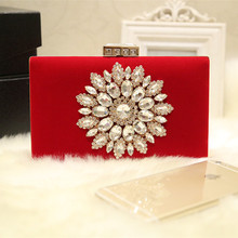 2017 Top Quality Luxury Rhinestone Flower Evening Bag Vintage Women Box Handbag Diamond Wedding Party Bridal Clutch Purse Bolsos