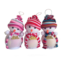 1 Pc Cute Baby Kids Christmas Eve Decoration Snowman Candy Apple Bags Action Figures Toys for Children Xmas Party Funny Gifts