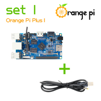 Orange Pi Plus SET1: Orange Pi Plus + USB to DC 4.0MM - 1.7MM Power Cable Supported Android, Ubuntu, Debian Beyond Raspberry