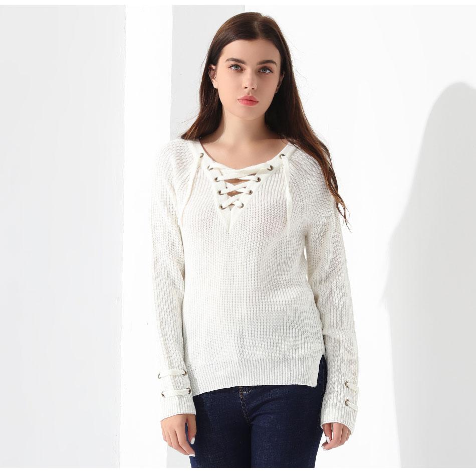Women's Pullover Long Sleeve KnittedSweater 31