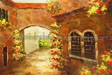 oil paintings on canvas free shipping Landscape decoration Tuscan Archway Office background High quality modern abstract