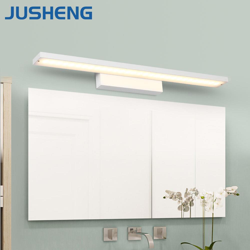 Modern LED Bar Light White Wall Mounted Aluminum LED Wall Light fixture in Bathroom 40 60 80 100CM to choose 110-240V ac