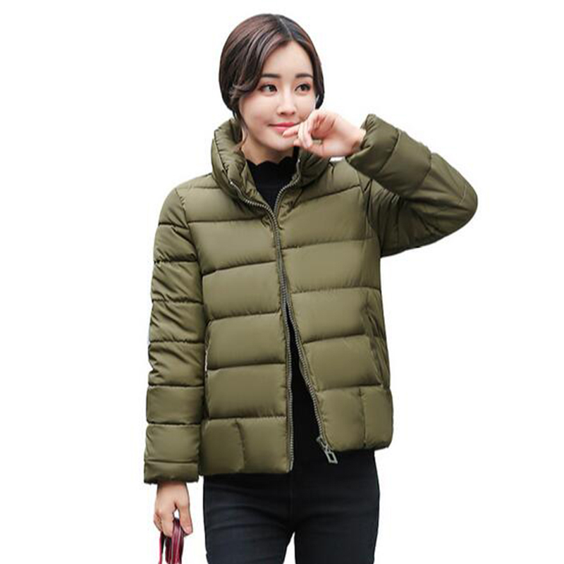 Parkas For Women Winter Fashion Jacket 2017 New Womens Thicken Basic Outerwear Hooded Coats Short Female Slim Parkas PW1035Îäåæäà è àêñåññóàðû<br><br>