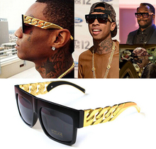 Oversized Flat Top Sunglasses  gold chain glasses online ping the world largest gold chain