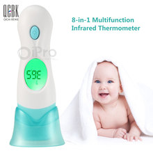 4 In 1 Forehead Ear LCD Infrared Digital Thermometer Non Contact Temperature Measurement Device For Baby Child Health Care(China)