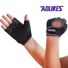 AOLIKES 1 Pair Brand Multifunction Fitness Sport Gloves Gym Half Finger Weightlifting Gloves Exercise Training(China)